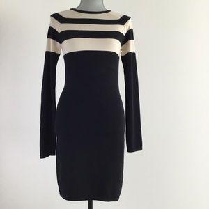 T by Alexander Wang Striped Mini Sweater Dress